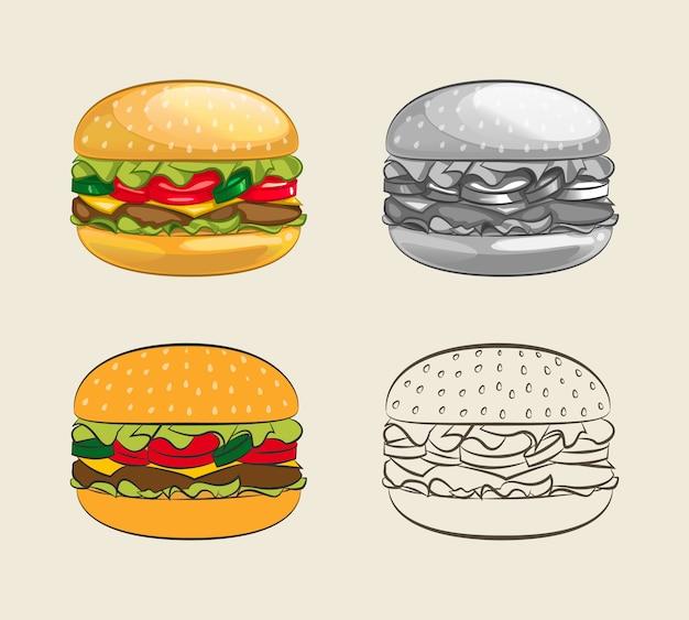 Burger z soczystą wołowiną.