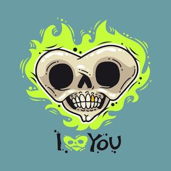Burning dead heart loves you