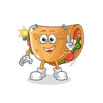 Burrito ma ilustrację pomysłu. postać