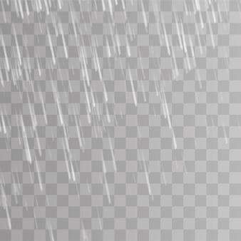 Burza deszczowa i białe chmury na przezroczystym tle.