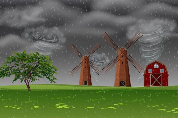 Burza na farmie