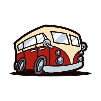 Bus red mascot design