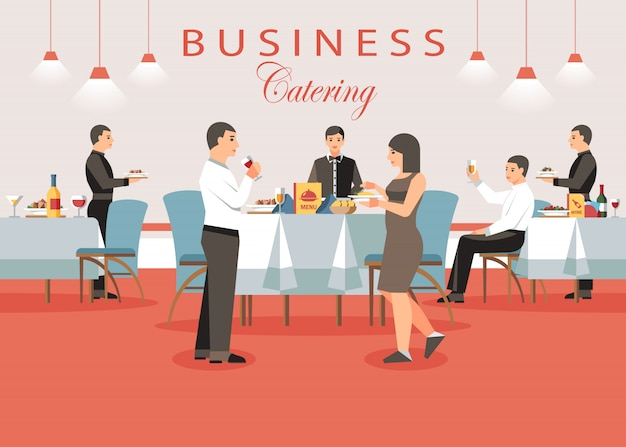 Business catering concept.