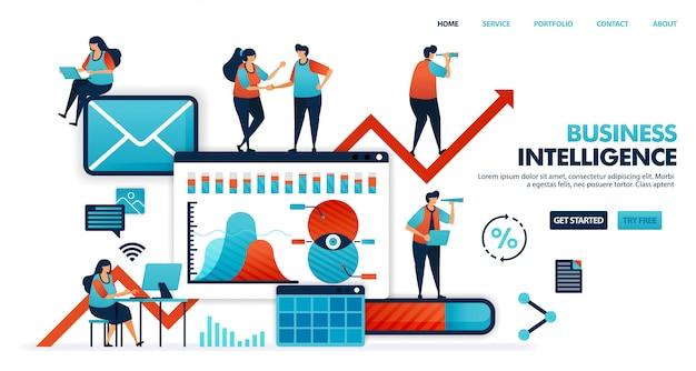 Business intelligence lub bi do analizy potrzeb, pragnień i nawyków konsumentów w korzystaniu z produktu dla inteligentnego biznesu.