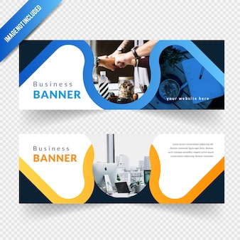 Business wave banner design
