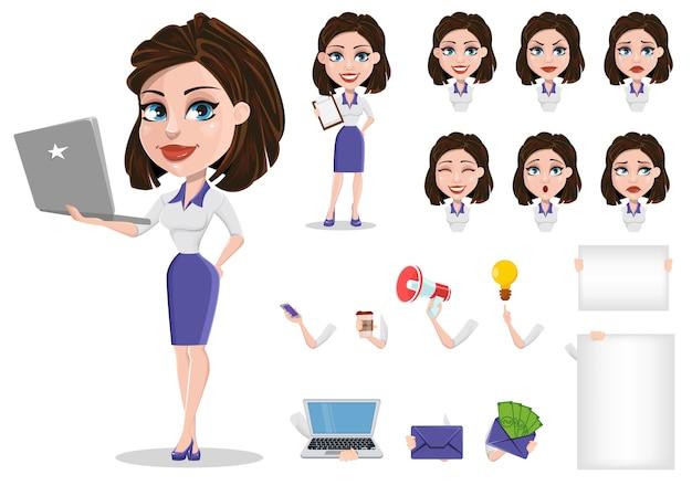Businesswoman w wizytowym