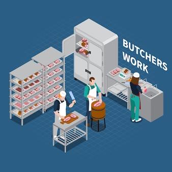 Butchery shop floor