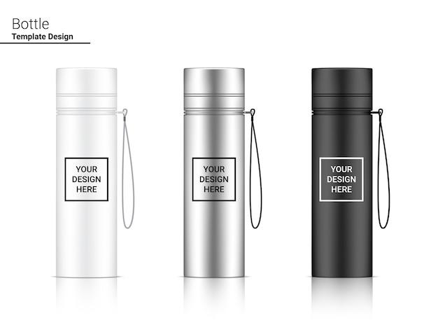 Butelka 3d z tworzywa sztucznego shaker design.
