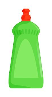 Butelka detergentu do mycia naczyń na białym tle