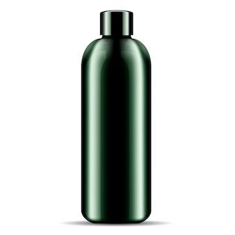 Butelka kosmetyków do kąpieli pod prysznic z szamponem