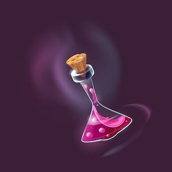 Butelka magicznej mikstury. ikona magicznego eliksiru interfejsu gry.