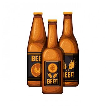 Butelka piwa ikona na białym tle