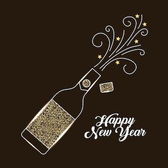 Butelka szampana wybuchu napój celebracja
