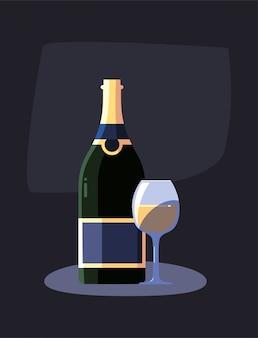 Butelka wina i kubek