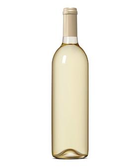 Butelka wina na białym tle.