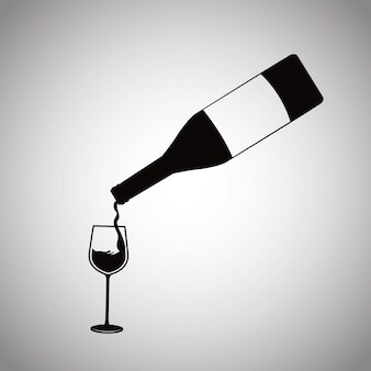 Butelka wina odlewania szkła kubek
