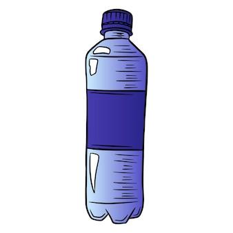 Butelka wody. międzynarodowy dzień wody. woda w plastikowej butelce. styl kreskówki. ilustracja wektorowa. do projektowania i dekoracji.