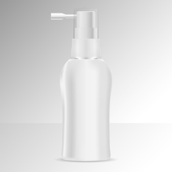 Butelka z dozownikiem tonikiem do włosów makieta.