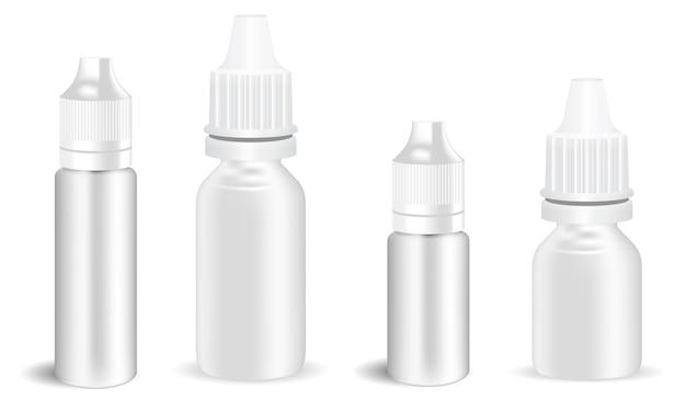 Butelka z kroplami do oczu e sok z kroplomierzem w sprayu