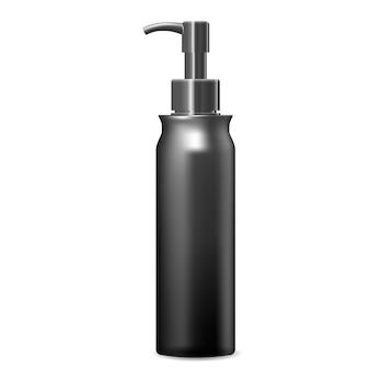 Butelka z pompką dozownika. pakiet kosmetyczny