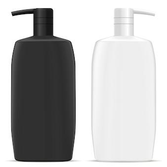 Butelka z pompką dozującą. kosmetyczny szampon do włosów jar