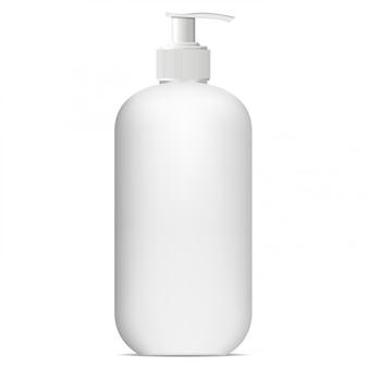 Butelka z pompką. makieta dozownika. produkt kosmetyczny