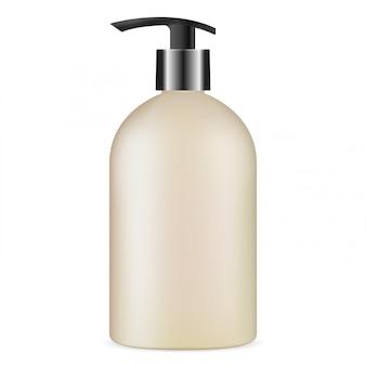 Butelka z pompką, produkt kosmetyczny z mydłem