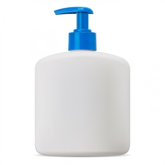 Butelka z pompką. puste makieta opakowania mydła kosmetycznego