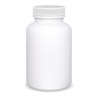 Butelka z suplementem, makieta pojemnika na pigułki, słoik