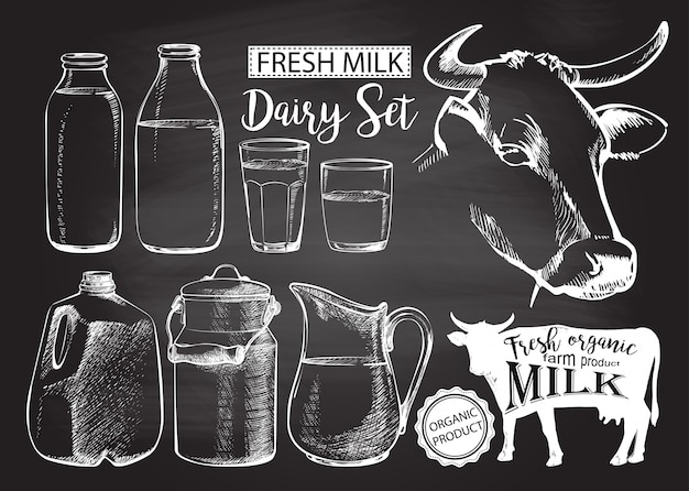 Butelki słoik mleka