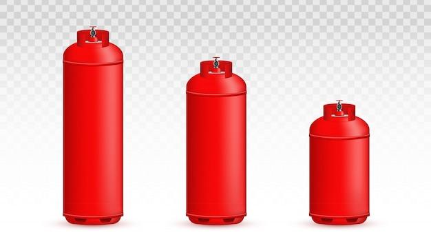 Butla gazowa, zbiornik, balon, pojemnik z propanem.