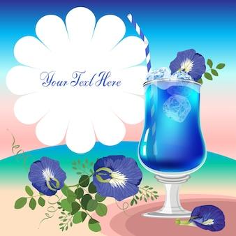 Butterfly pea flower juice
