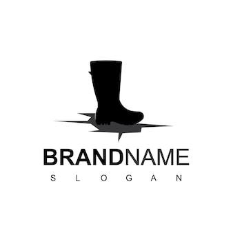 Buty logo design inspiracja symbolem butów męskich