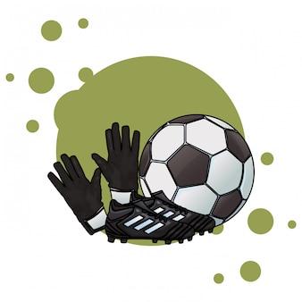 Buty piłkarskie z piłką