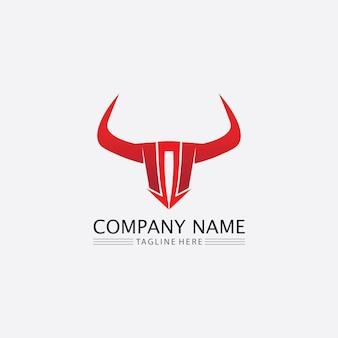 Byk bawół głowa krowa zwierzę maskotka logo wektor dla sportu róg bawół zwierzę ssaki głowa logo dziki matador
