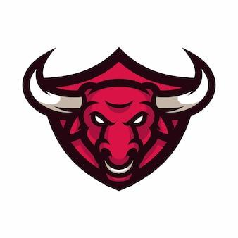 Byk - wektor logo / ikona ilustracja maskotka