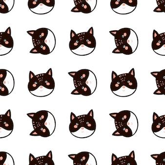 Bystry zwierząt głowy doodle styl ilustracji dla dzieci