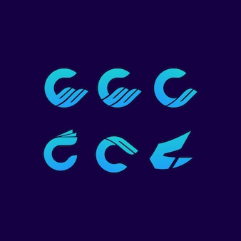 C logo list znak art