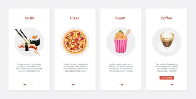Cafe menu fast food na wynos z przekąskami