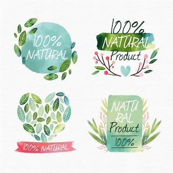 Cała naturalna kolekcja odznak