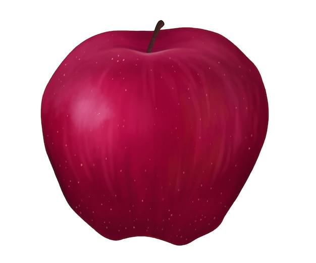 Całe czerwone jabłko