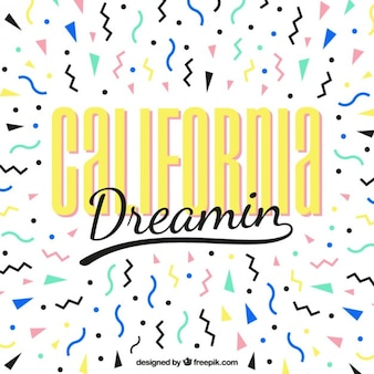 California dreaming memphis tło