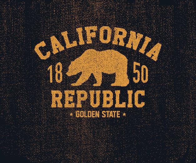 California koszulka z niedźwiedziem grizzly.