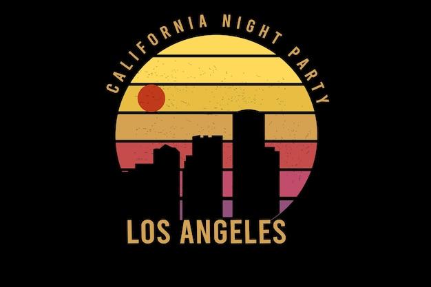 California night party kolor żółty i pomarańczowy