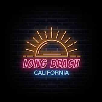California retro godło logo neonowe znaki