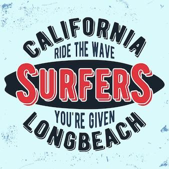 California surferów vintage pieczęć