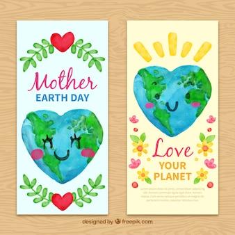Całkiem transparenty akwarele na dzień matki ziemi