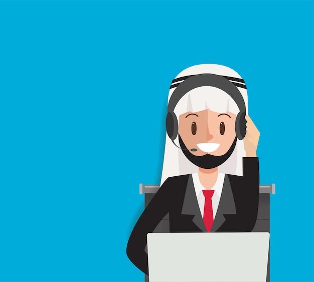 Call center arab do komunikacji usługi online.