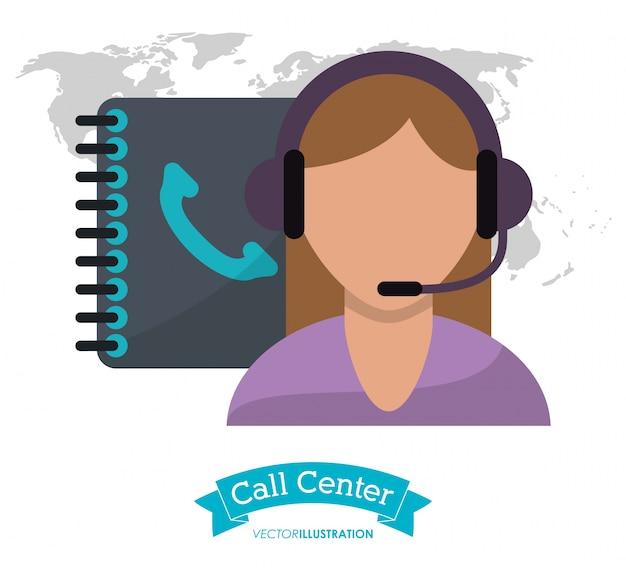 Call center kobieta telefon wsparcia klientów kontakt