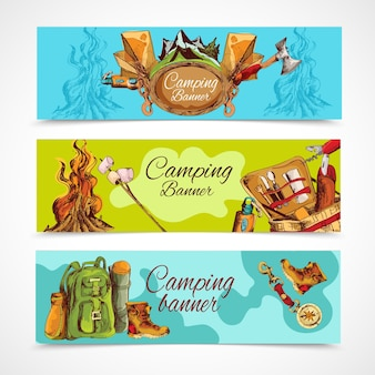 Camping banner poziomy